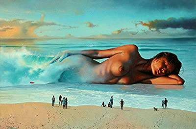 "Jim Warren Painting; Limited Edition Lithograph by Award Winning Artist Jim Warren featuring his Original ""Mirage""."