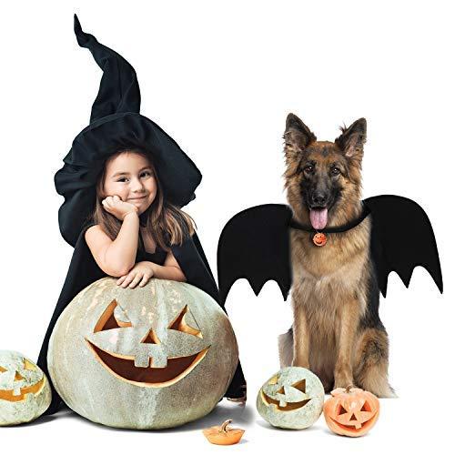 Legendog Dog Bat Wings, Halloween Costumes for Dogs, Pet Costume, Bat Wings for Dogs with Dog Leash and Pumpkin Bells, Dog Bat Wings