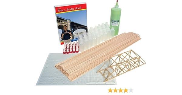 Amazon Com Pitsco Balsa Wood Bridgepak Kit For 25 Students Industrial Scientific
