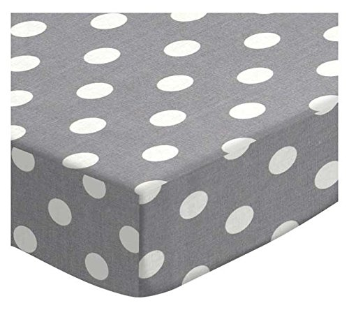 SheetWorld Fitted Cradle Sheet - Polka Dots Grey - Made In USA