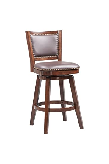Pleasing Boraam Broadmoor Swivel Barstool 44 Inch Cappuccino Creativecarmelina Interior Chair Design Creativecarmelinacom