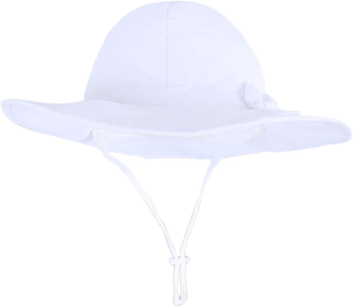 Neonati Cappello da Pescatore Bambino Bambine Estivo Bambini Bucket Hat Anti-UV Berretto con Ala Protezione Solare per Spiaggia Vacanza Viaggio Outdoor Happy Cherry 0-6 Anni