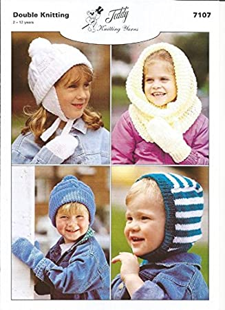 Knitting Pattern For Childrens Mittens Hats Snood And Balaclava