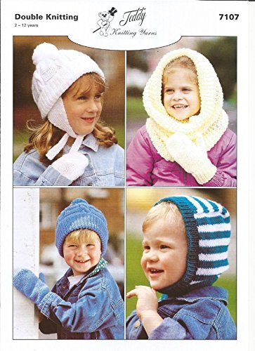 Amazon Knitting Pattern For Childrens Mittens Hats Snood And