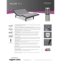 Adjustables by Leggett & Platt Falcon Adjustable Bed Base, Split King, Wireless