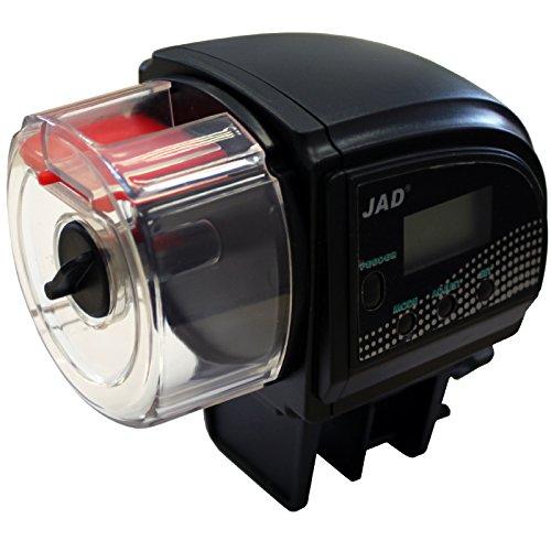 JAD ZW-66 digitaler Aquarium Futterautomat Größe S für Granulatfutter Fischfutter Fisch optimal auch für Zuchtbecken