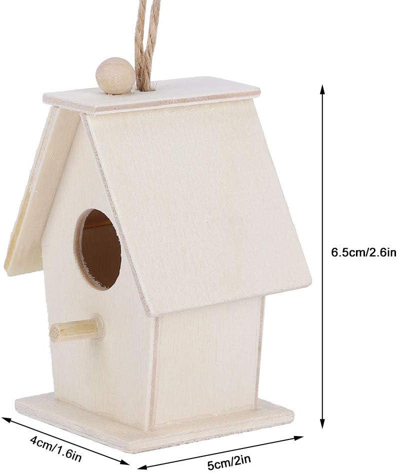 mangiatoie per Casette per Uccelli da 4 Pezzi per Decorazioni da Giardino pensili allaperto HERCHR Casette per Uccelli per Kit Esterno