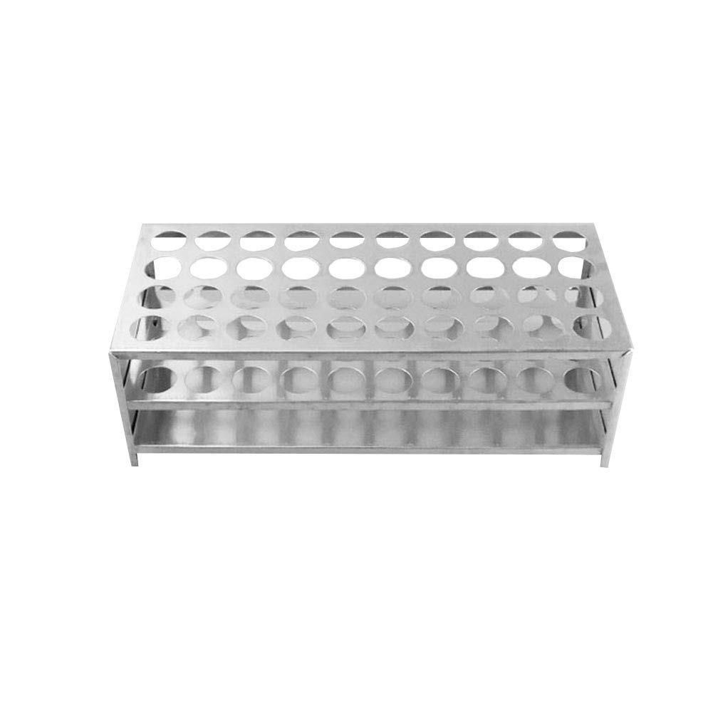 Tansoole Aluminum 15.5mm Dia 30 Holes Test Tubes Rack for Lab Testing Pack of 1