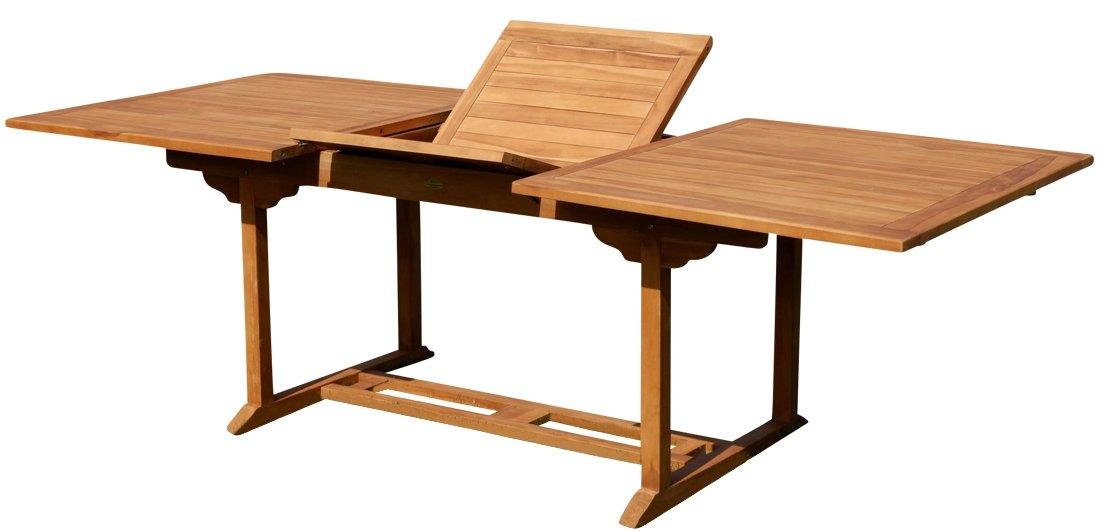 TEAK XXL Ausziehtisch Holztisch Gartentisch Garten Tisch L: 180/240cm B: 100cm Gartenmöbel Holz geölt sehr robust Modell: TOBAGO von AS-S