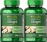 Puritan's Pride Ginger Root 550 mg-200 Capsules (2 Pack)