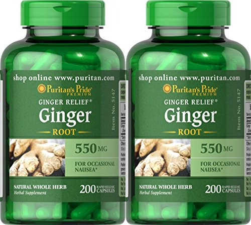 Puritan's Pride Ginger Root 550 mg-200 Capsules (2 Pack) For Sale