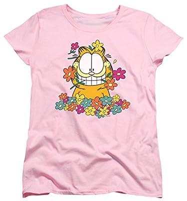 Garfield In The Garden Newspaper Comic Short Sleeve Women's T-Shirt Tee