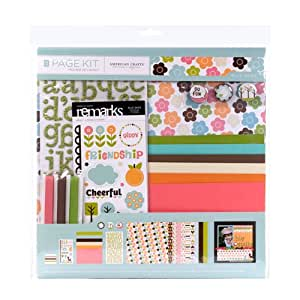 American Crafts 12-Inch by 12-Inch Scrapbooking Page Kit, Blue Skies