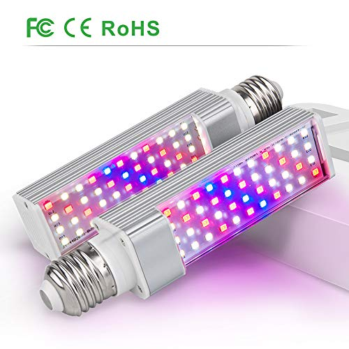 LED Grow Light for Indoor Plant, Relassy Full Spectrum Grow Lamp, Professional for Seedling Growing Blooming Fruiting (2PCS Replacement Bulb-B)