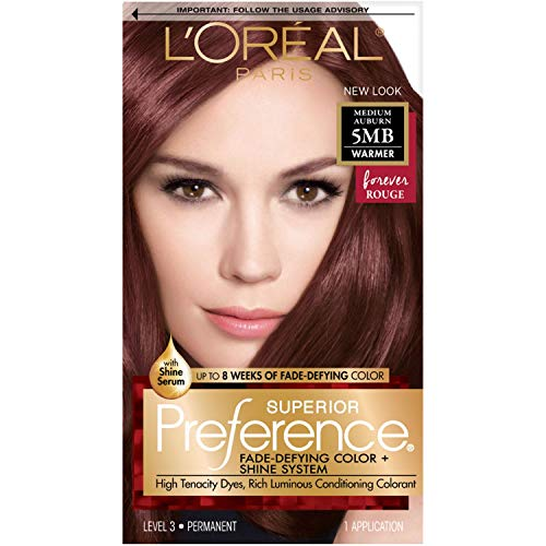 L'Oreal Paris Superior Preference Fade-Defying Color + Shine System, 5MB Medium Auburn(Packaging May Vary), Pack of 1,