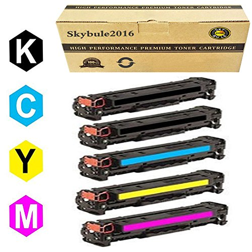 Educational Cartridge - Canon131 Toner Cartridge Compatible for With Canon ImageClass LBP7110Cw MF624Cw MF628Cw MF8280Cw MF8230CN Series printers(2black/cyan/Magenta/yellow-5Packs)by Skybule2016
