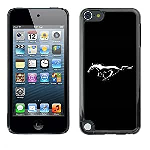 Beautifulcase GagaDesign cell phone Accessories: case cover for Apple iPod Touch 5 - Mustang c72OhmeE4ey Wild Horse
