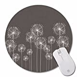 Mouse Pad Thin Support Laptop Non-Skid Rubber Pad Personalized Round Desktop Mouse pad gaming keyboard pack, Shine in Dark design.