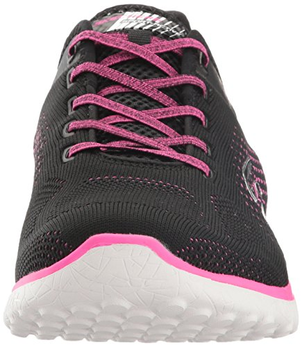Skechers Sport Dames Microburst Supersonic Fashion Sneaker Zwart / Roze