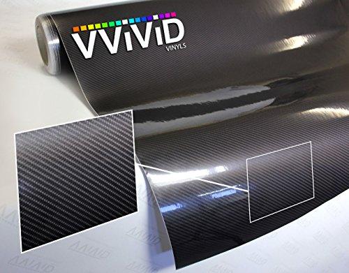 VViViD High Gloss Black Carbon Fiber Tech Art 3-Layer 3D Realistic True Carbon Fiber Look Cast Vinyl Wrap (.5ft x 5ft)