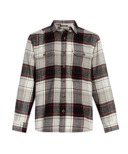 Woolrich Men's Oxbow Bend Flannel Shirt, Eagle Feather, Larg