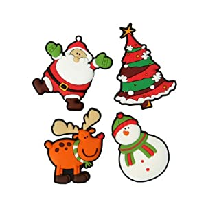 Dexam Christmas Fridge Magnets, Set of 4, Multi-Colour: Amazon.co ...