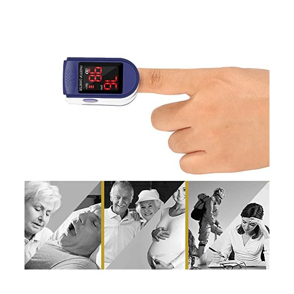Pulsómetro Digital Oxímetro de Pulso Pulsioxímetro de Dedo con Pantalla LED, Monitor de Frecuencia Cardíaca y Medidor de… 10