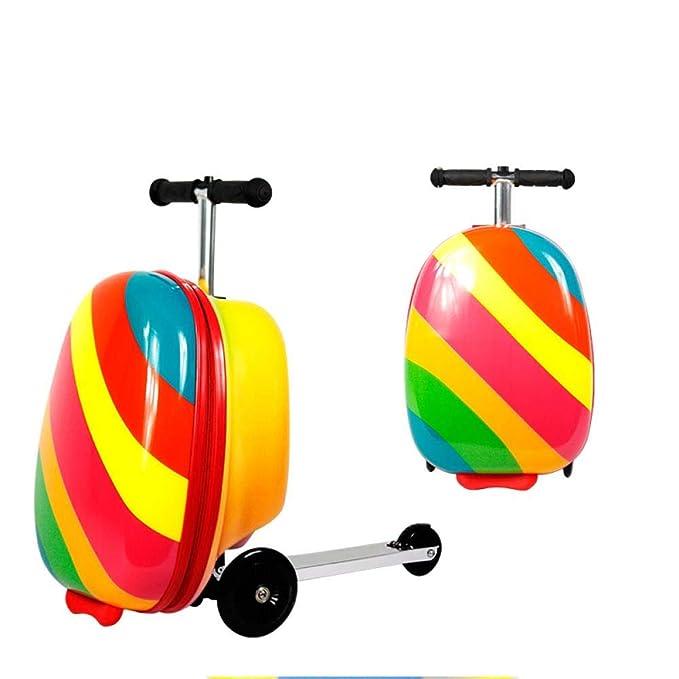 Hokaime Equipaje Scooter para niños, Scooter Plegable Altura ...