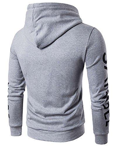 shirt Longues Manches Sweat Vêtements De Capuche À Homme Gris Sport Sweat ARwFqdR