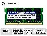 Timetec Hynix IC 8GB DDR3L 1600MHz PC3L-12800 Non ECC Unbuffered 1.35V CL11 2Rx8 Dual Rank 204 Pin...