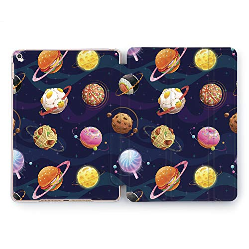 Wonder Wild Food Universe iPad Case 9.7 Pro inch Mini 1 2 3 4 Air 2 10.5 12.9 2018 2017 Design 5th 6th Gen Clear Print Smart Hard Cover Space Infinity Cartoon Drawn Meatball Chocolate Donuts Eat ()