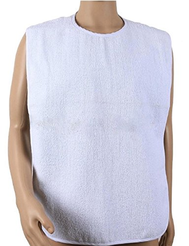 Deluxe Adult Terry Cloth Bibs with Closure - 4PK (Adult Terry Bibs)