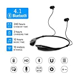 SoundPEATS Bluetooth Headphones Wireless Headset Stereo Neckband Sport Earbuds with Mic (10 Hours Play Time, Bluetooth 4.1, Sweatproof) - [Upgraded Version of Q900]