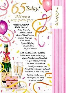 Simon Elvin 2019 65th Female Birthday Card
