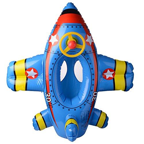 Inflable Flotador para bebé Niños, avión lancha motora flotante Ride-On PVC de seguridad flotador inflable natación...