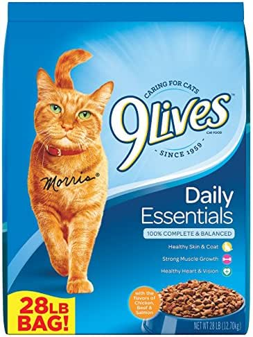 9Lives 28 Lb Daily Essentials Dry Cat Food, Large
