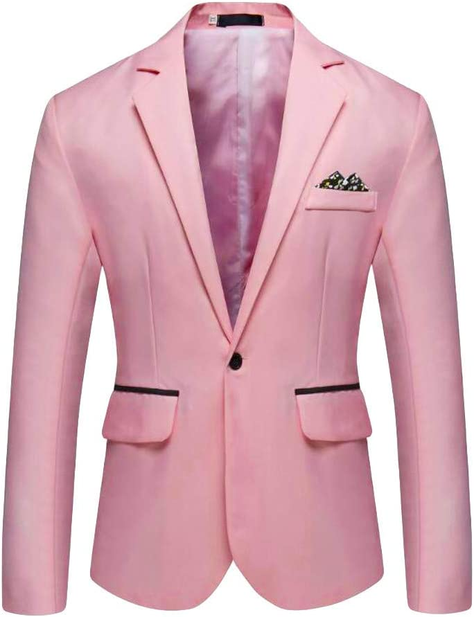 Herren Sakko klassisch Reverskragen Blazer Seidiges Gef/ühl Jackett Anzug Slim Fit bequem M/änner Blazer Kleid Modern Freizeit Leichte Partyhochzeit Jacke