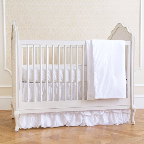 Summer Infant 4-Piece Classic Bedding Set with Adjustable Crib Skirt, Swiss Dot ()