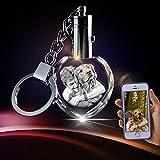 3D Crystal Key Chain - Unique Custom Gift (Heart Keychain)