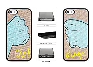 Best their Friends Fist Bump Plastic Phone Case which Back Cover Apple iPhone 5 years 5s the Kimberly Kurzendoerfer