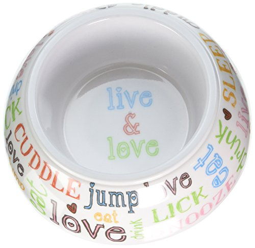 Image of PetRageous 1 Cup Doodle Pet Inverted Non-Skid Melamine Bowl, 4