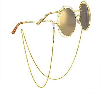 Bangxiu Antideslizante Retro Metal Gafas Gafas Cadena Twist ...
