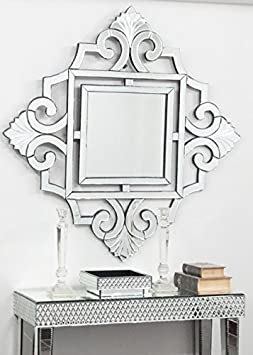 Venetian Design Wall Mirror for Living Room | Bathroom Mirror | Venetian Mirror Mirrors at amazon