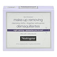 Neutrogena Night Calming Make-up Removing Cleansing Wipes, 25 Count
