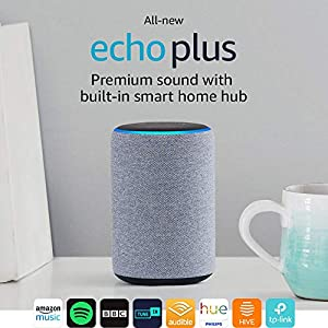 All-new Echo Plus (2nd Gen), Charcoal Fabric + Philips Hue White bulb E27
