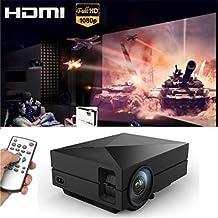 Tronfy®Xmas Big Discount Black Super Bright 1000:1 HD 1080P Mini LED LCD Projector Portable Support AV/SD/USB/HDMI/VGA - G60 Home Cinema Theater Interface Video Games Movie