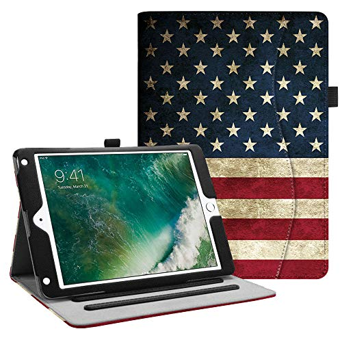 (Fintie iPad 9.7 2018 2017 / iPad Air 2 / iPad Air Case - [Corner Protection] Multi-Angle Viewing Folio Cover w/Pocket, Auto Wake/Sleep for Apple iPad 6th / 5th Gen,)