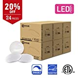 IN HOME 11-inch LED Flush mount Ceiling Light MS Series 16W (75W equivalent), Dimmable, 5000K (Daylight), 1489 Lumens, White Finish with Acrylic white shade, (24 pack) ETL and ENERGY STAR listed
