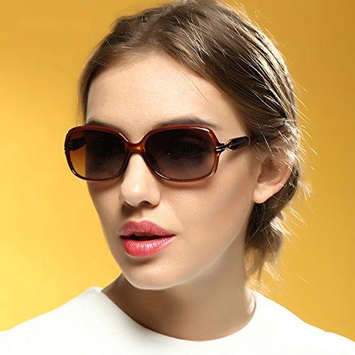UVA Borde Clásico Solar Protección De Anti Luz Gafas 100 de Pequeño Gafas Marrón Retro gafas sol Protección Polarizada Patrón Color Conducción WYYY UV Decoración Sra qwU8vaZx
