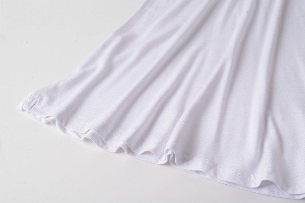 LARACE Women Solid Sleeveless Tunic for Leggings Swing Flare Tank Tops (L, White) by LARACE (Image #6)